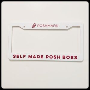 Poshmark license plate holder
